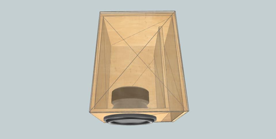 12 дюймов короб для сабвуфера Rockseries 2000rms par