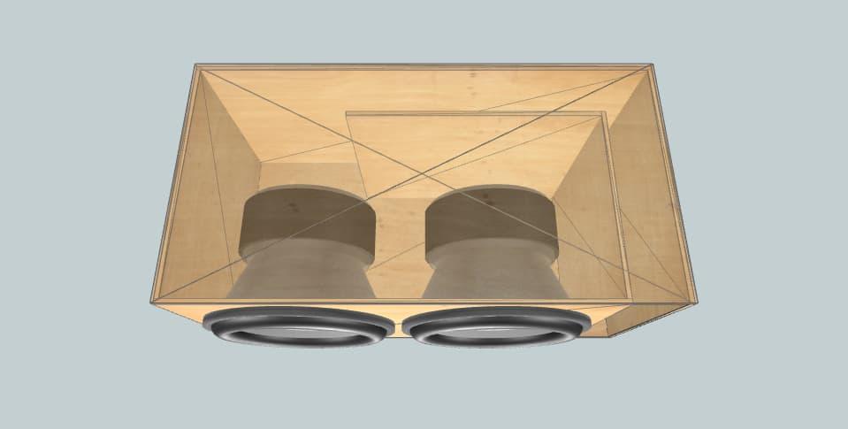 15 дюймов короб для сабвуфера Audiopipe
