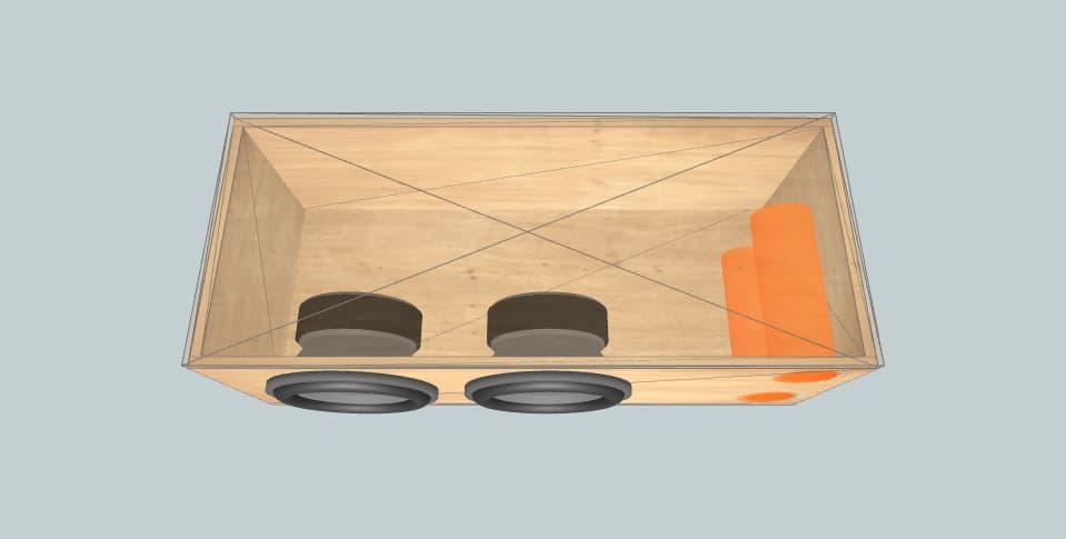 12 дюймов короб для сабвуфера DD Audio 612 x2