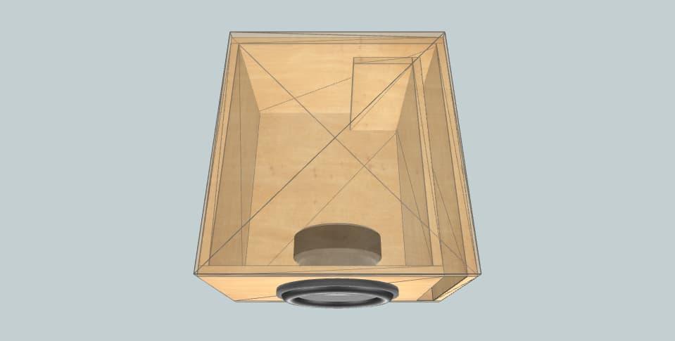 12 дюймов короб для сабвуфера MTX TX612 23HZ