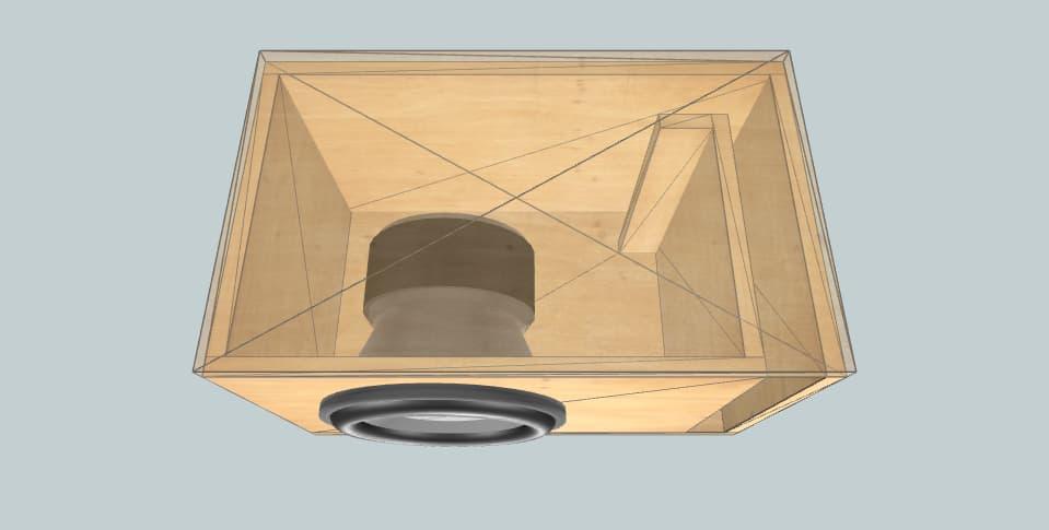 12 дюймов короб для сабвуфера GS Audio