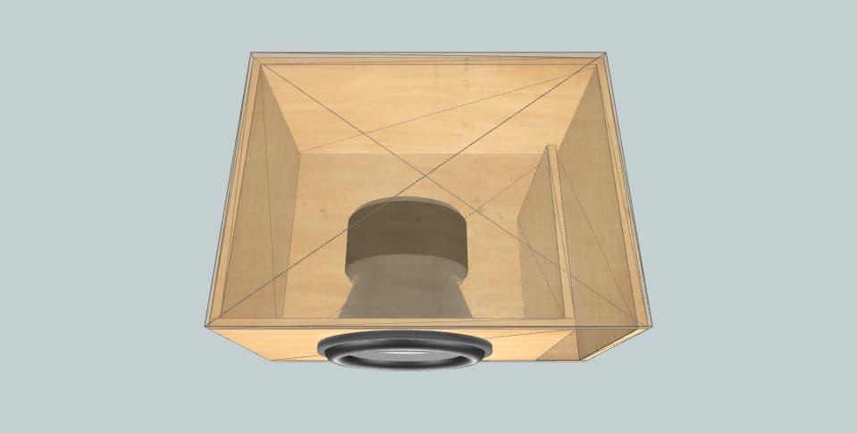 """15 дюймов короб для сабвуфера SPL Atomic ele 15"""" 1500rms"""