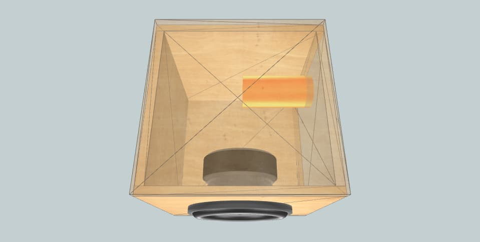 10 дюймов короб для сабвуфера cube10