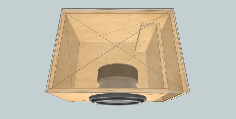 12 дюймов короб для сабвуфера DBDRIVEEWX12'