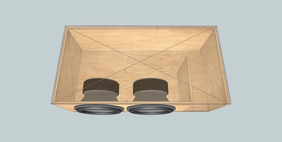 15 дюймов короб для сабвуфера Skar Ddx 15s dual 2 ohms max spl