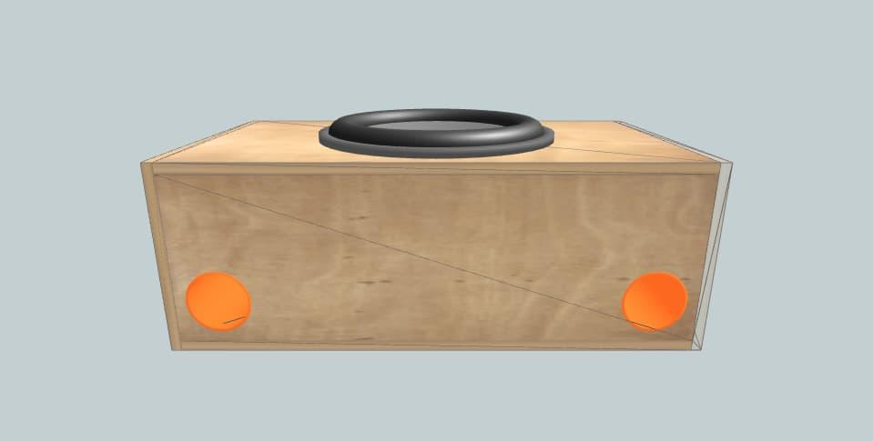 Blaupunkt Vpw460 van setup - subwoofer box