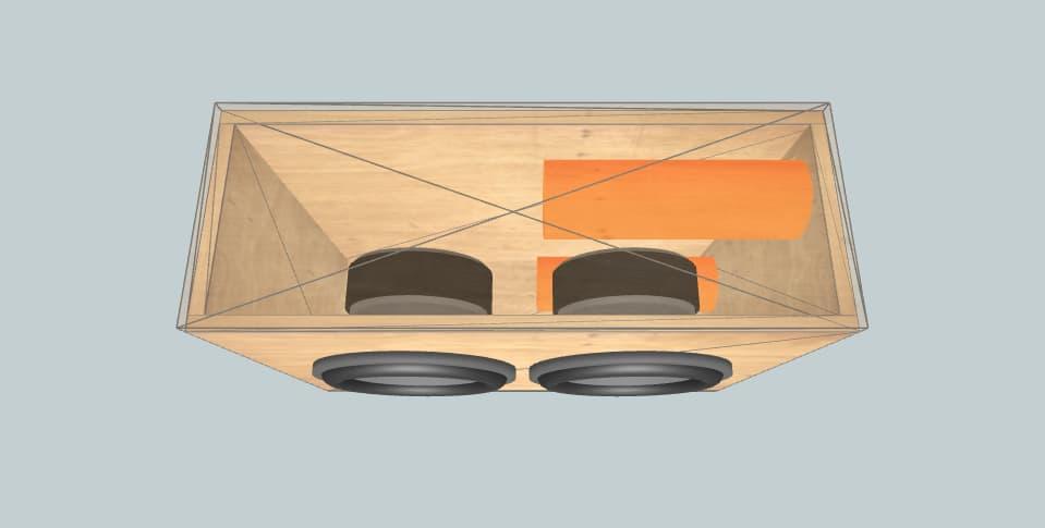 12 дюймов короб для сабвуфера DS18 Brooks