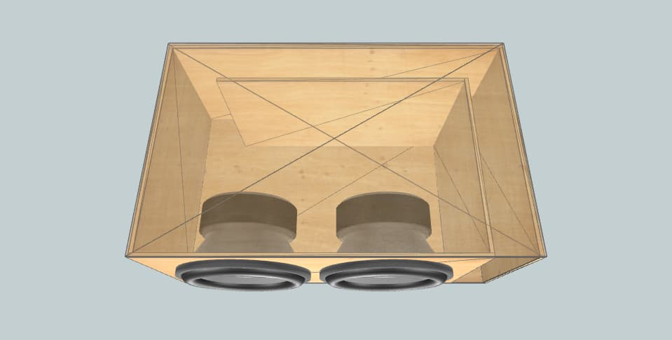 12 inch subwoofer box Resilient Sounds Gold