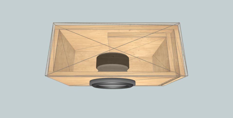 Alpine SWR-8D2 Official box - короб для сабвуфера