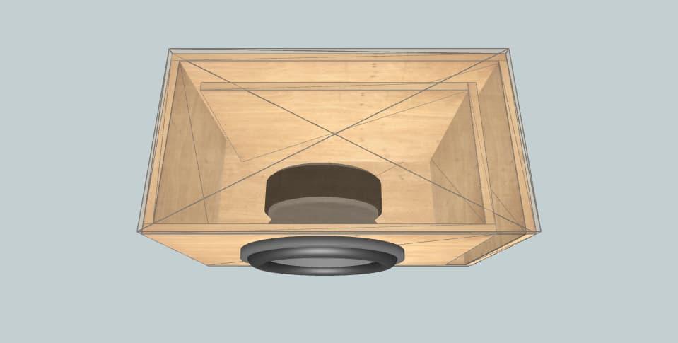 12 дюймов короб для сабвуфера Powerbass M-124