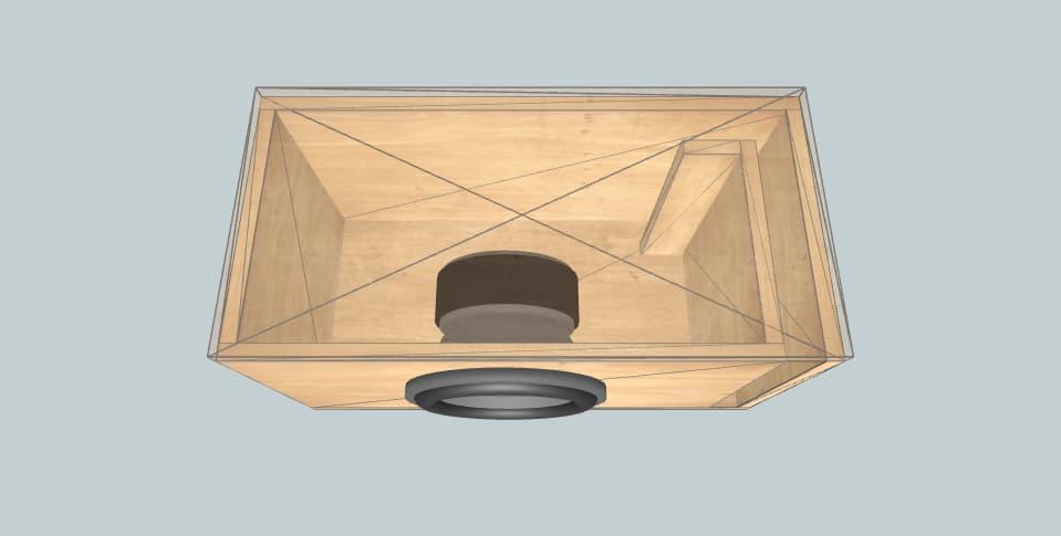 10 inch subwoofer box Skar SDR-10 D2