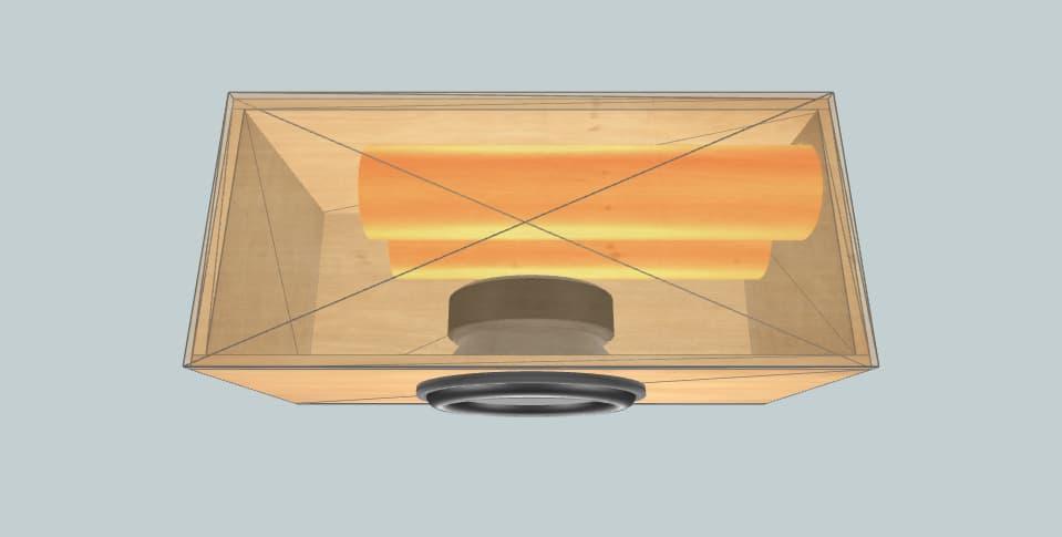 15 дюймов короб для сабвуфера Skar zvx15 4CF@33Hz 2007 VW Jetta