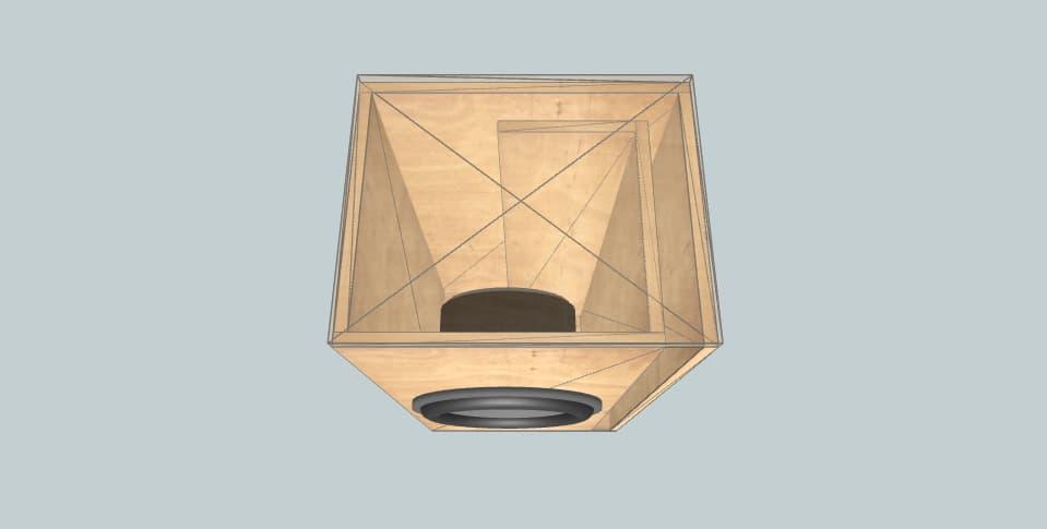 LID2 single cabinet  - subwoofer box