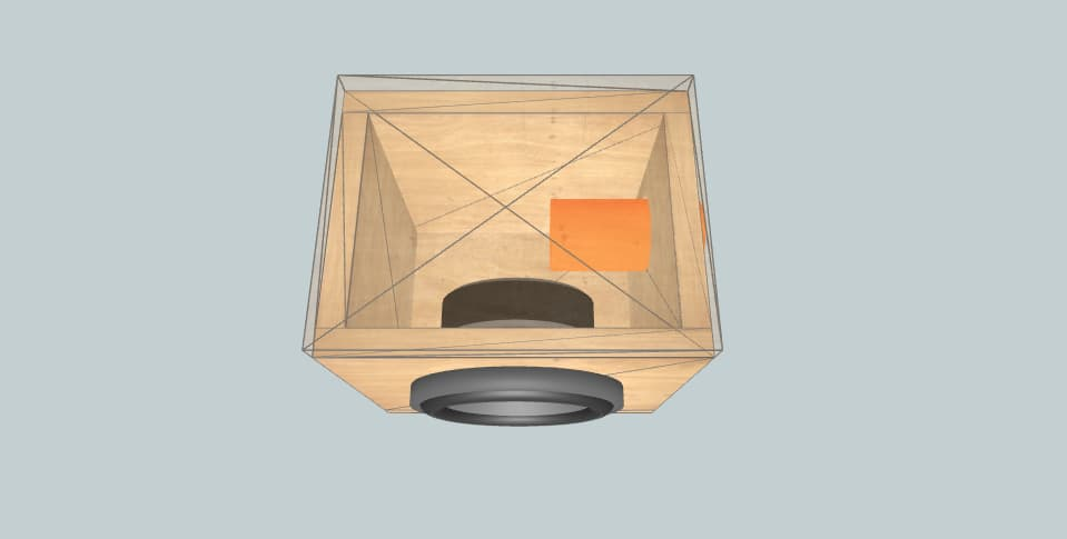 6.5 дюймов короб для сабвуфера Pyle PLG64 6.5