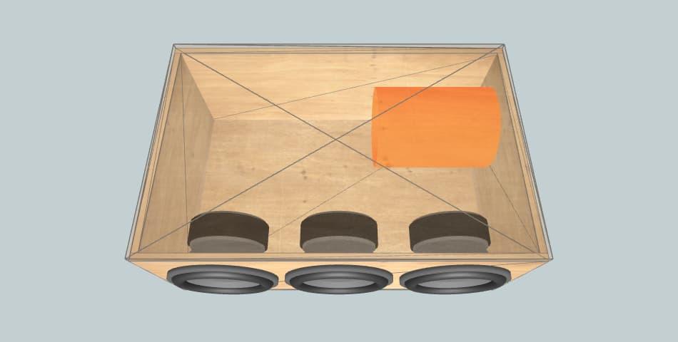 12 дюймов короб для сабвуфера ELEVEN 900RMS cliente tercia