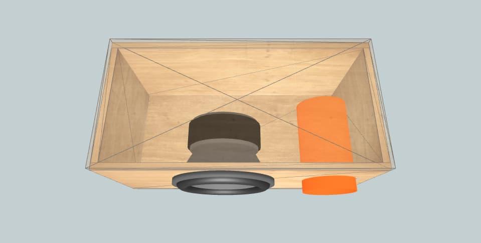 12 inch subwoofer box Velocity VpW300 Aero Port Box