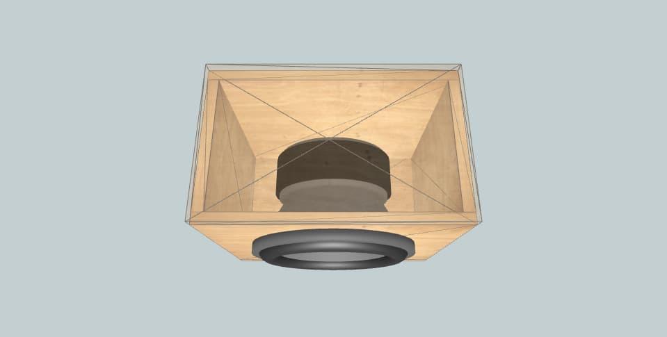 XS-GTR100L - subwoofer box