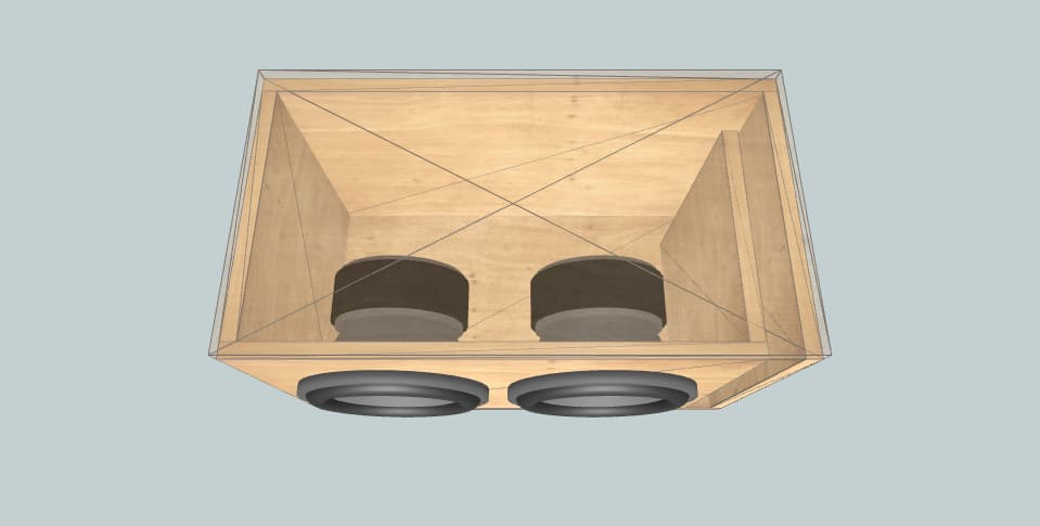 10 inch subwoofer box Alpine for cons
