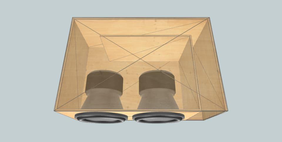 12 дюймов короб для сабвуфера American Bass XMaxx