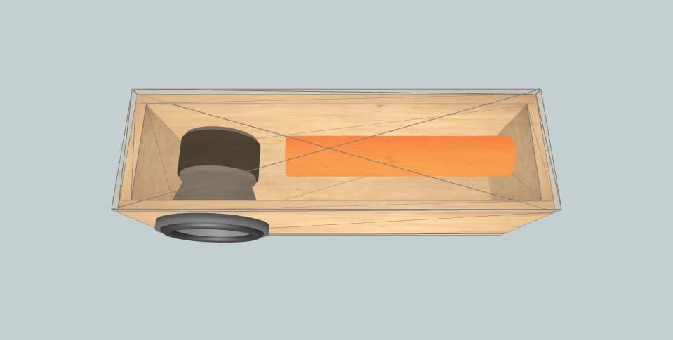 "8 inch subwoofer box Sa 8 v3 3"" Aero Port"