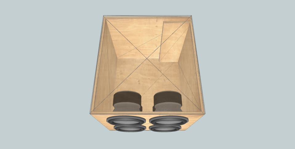 12 inch subwoofer box audiopipe TXX-BDC4-12