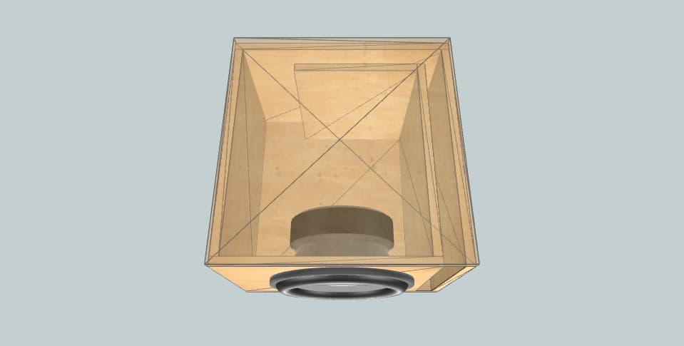 15 inch subwoofer box MTX RT15-04 23HZ 100L