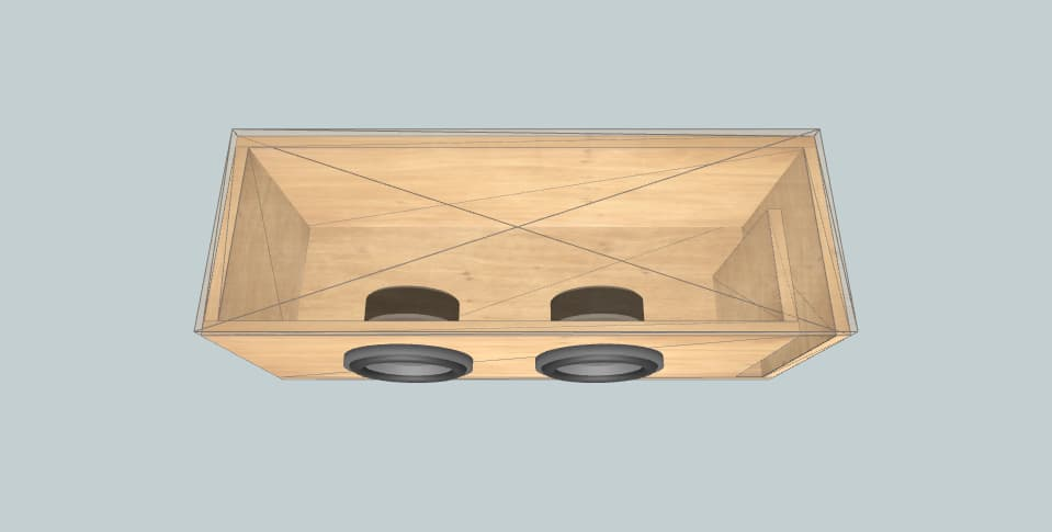 8 inch subwoofer box 25гд-26б