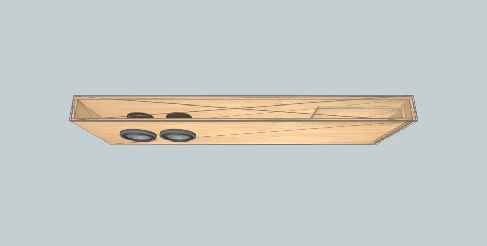 6.5 дюймов короб для сабвуфера Skar 2012 sierra