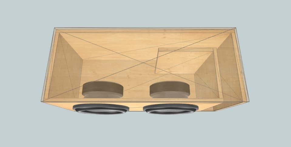 12 inch subwoofer box Skar VD-12 x2