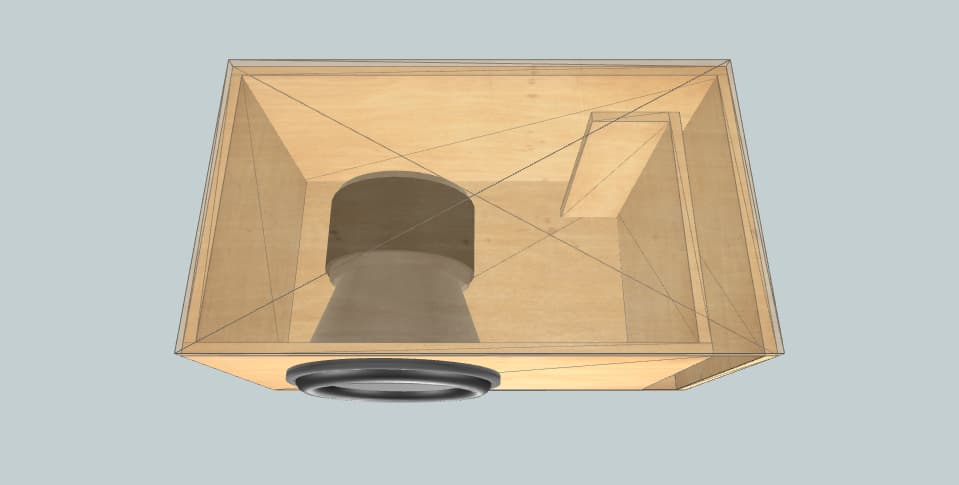 15 inch subwoofer box HST-15 5 CU FT @28HZ