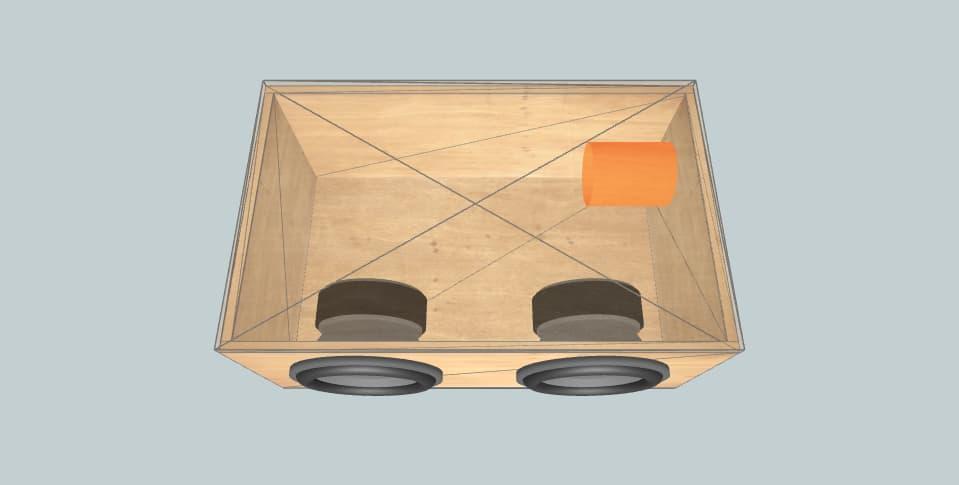 12 дюймов короб для сабвуфера Skar 2 skar audio sdr 12s