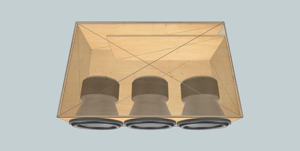 12 дюймов короб для сабвуфера Audiopipe