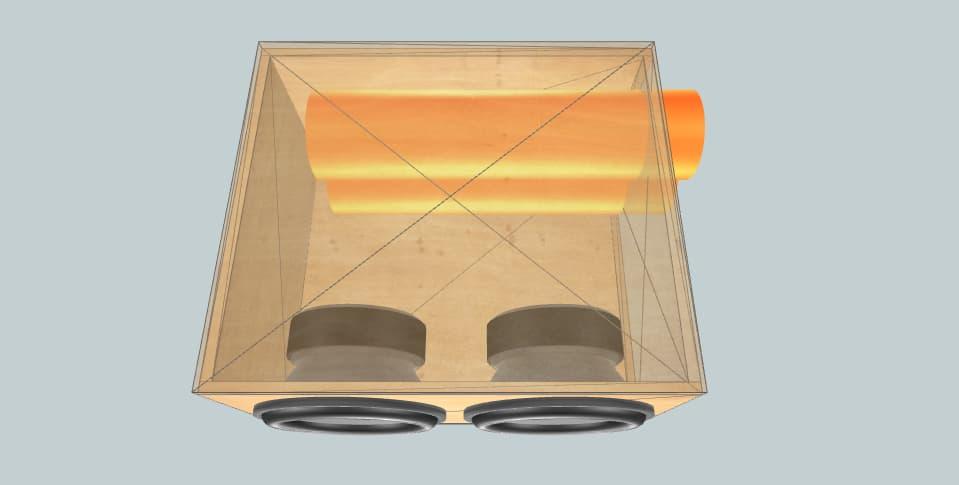 15 дюймов короб для сабвуфера Kicx MBW 15-22SF