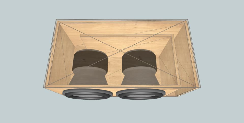 12 inch subwoofer box Audio Pipe BDC4-D4