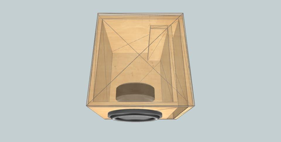 10 дюймов короб для сабвуфера 10
