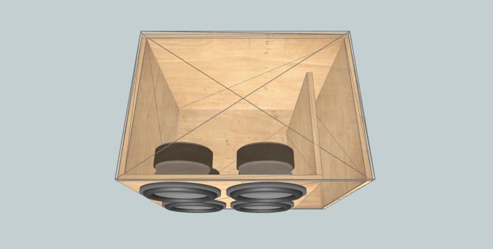 12 дюймов короб для сабвуфера Ural 4 12