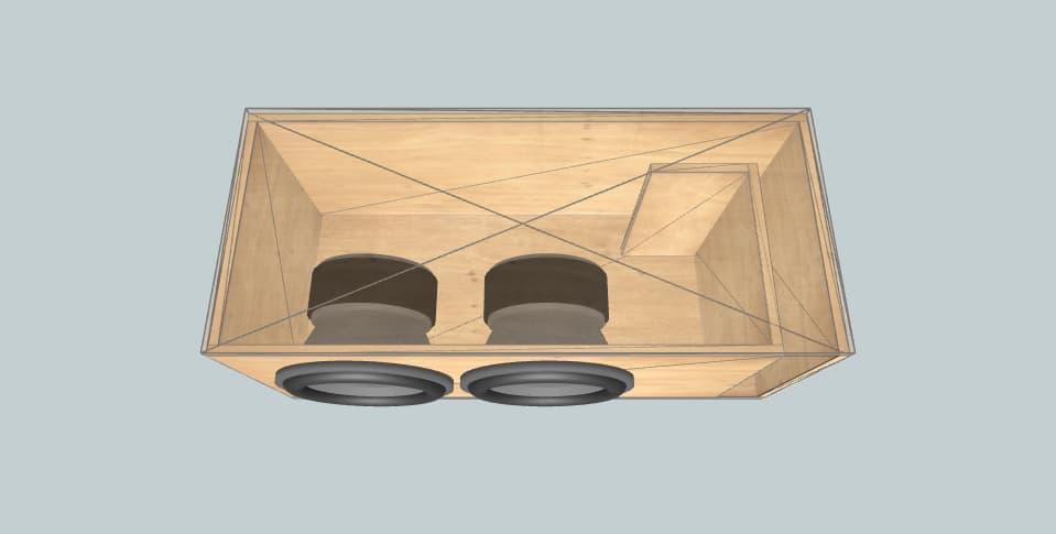 12 дюймов короб для сабвуфера Skar EVL12'S