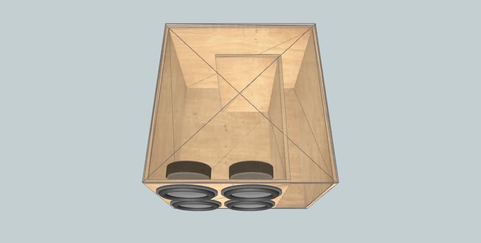 15 дюймов короб для сабвуфера Aura 4 Storm 15 Wall