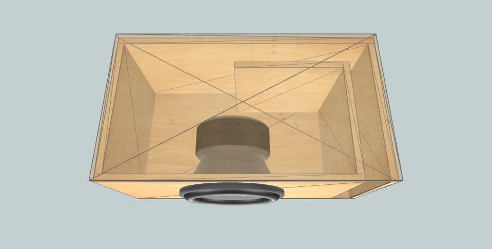 12 дюймов короб для сабвуфера AudioSystem ASS12 65l@32Hz