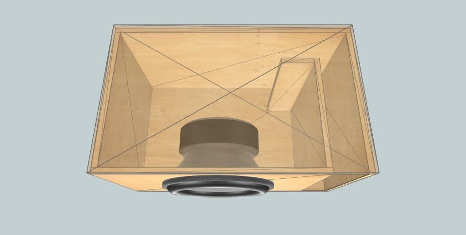 """15 inch subwoofer box Skar DDX 36H 15"""""""