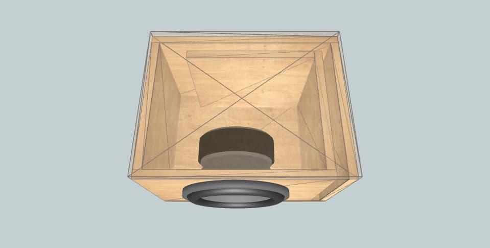10 inch subwoofer box Pioneer TS-A250D4 slot