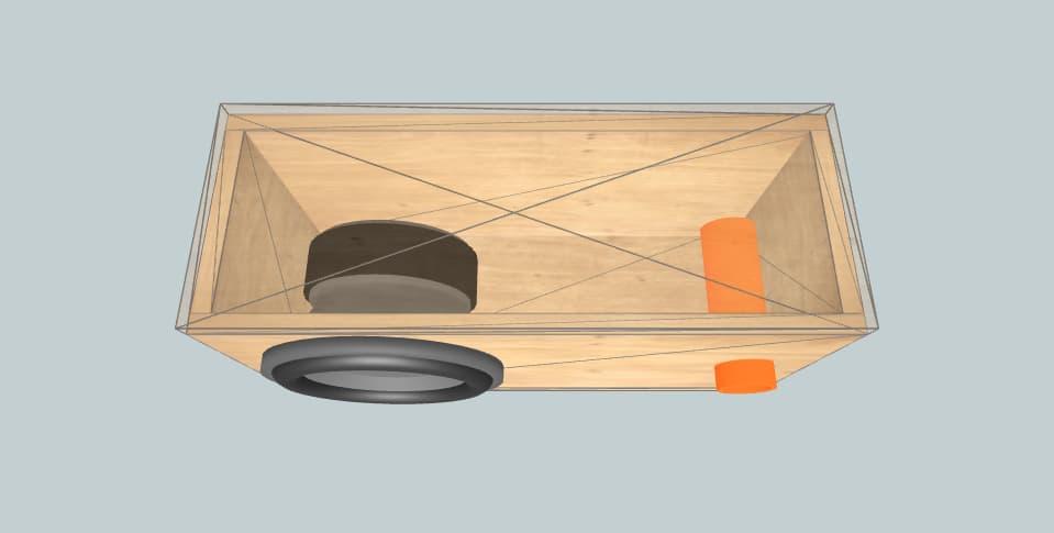 10 дюймов короб для сабвуфера Pioneer Pioneer TS-A250D4