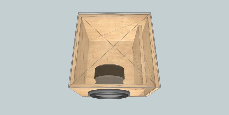 10 дюймов короб для сабвуфера Skar sdr-10 d2