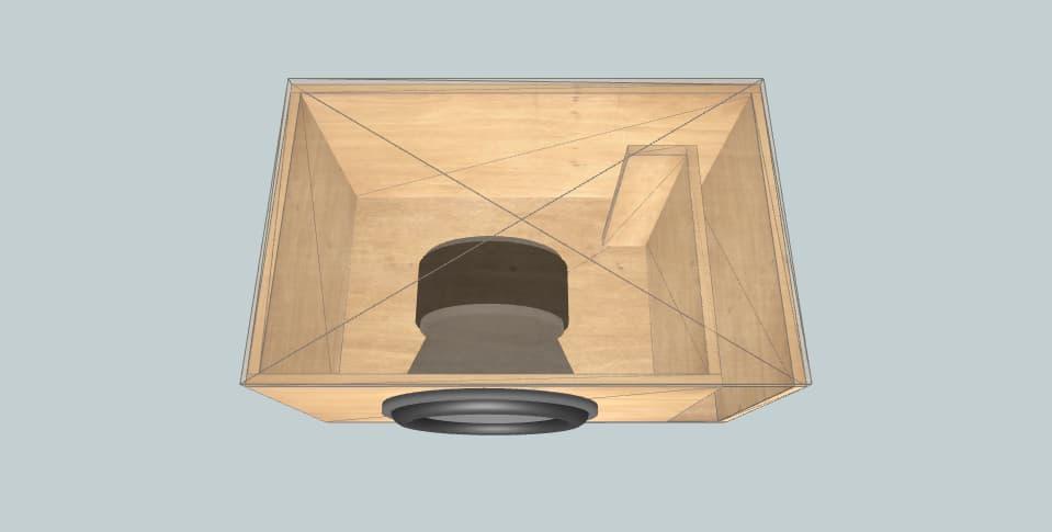 15 дюймов короб для сабвуфера Sundown Audio X-15v.2 - 34Hz (4.5 Cubic Ft.)