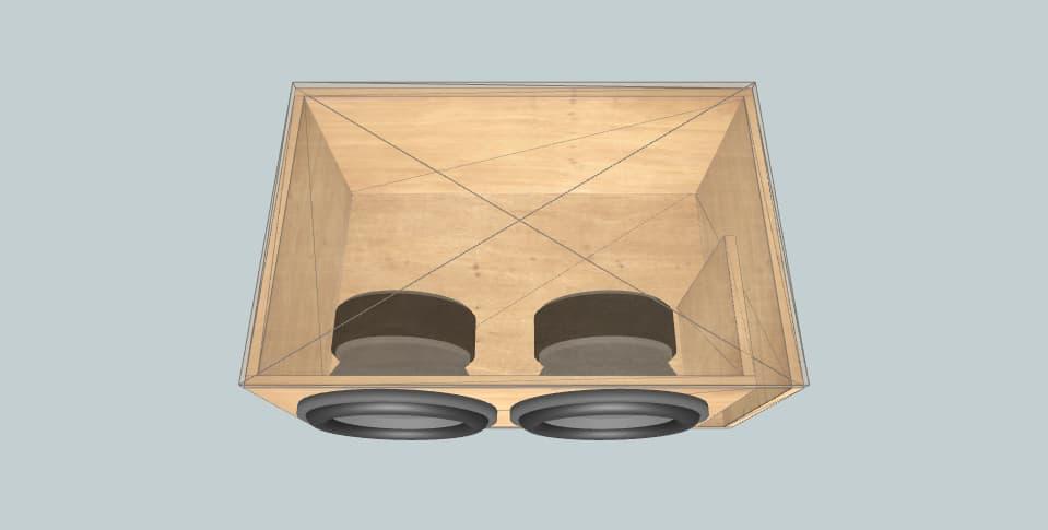 12 дюймов короб для сабвуфера JBL GT5-12 ( Dual )