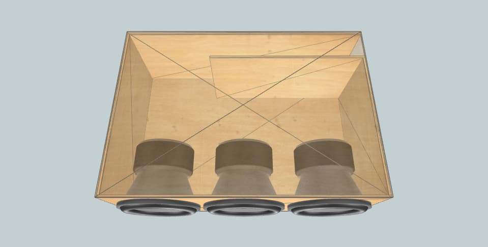 12 дюймов короб для сабвуфера Resilient Sounds