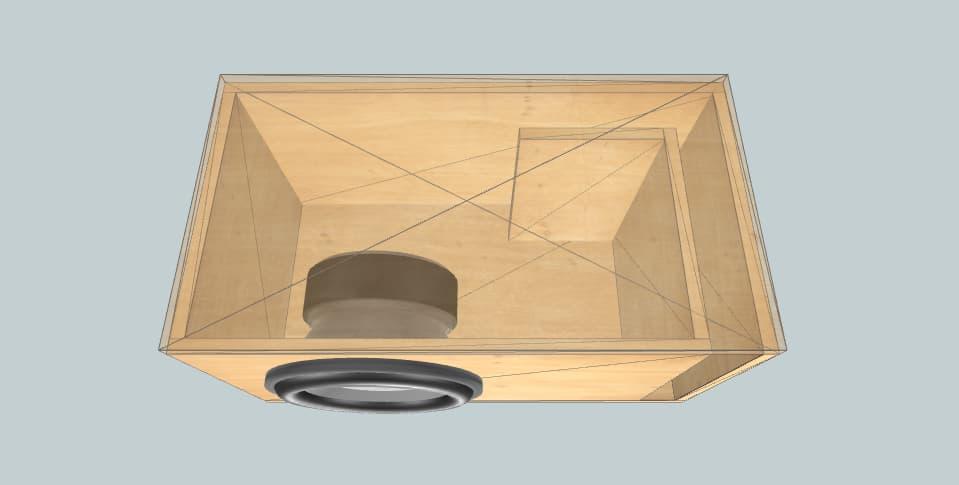 12 inch subwoofer box Ground Zero GZPW SPL 12