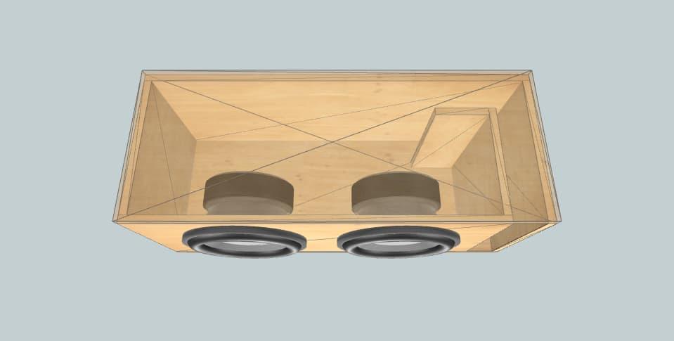 12 inch subwoofer box Vega 12 pair