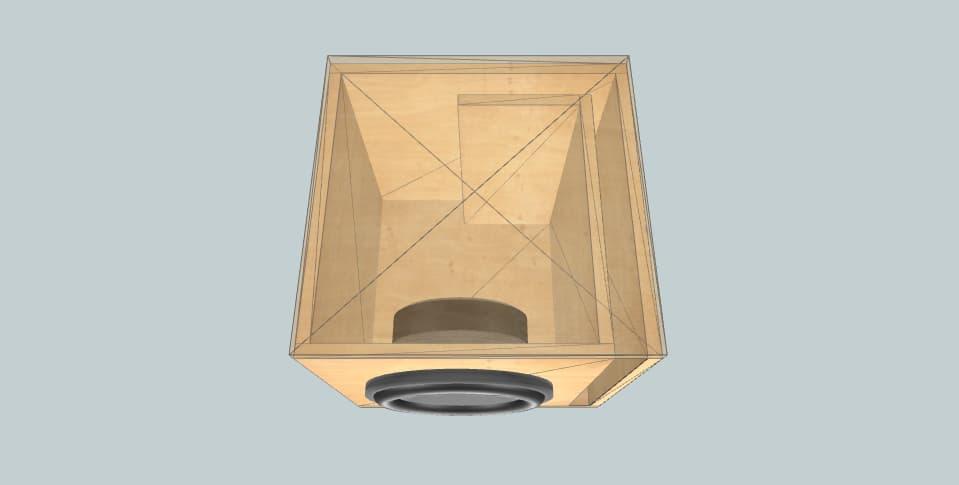 10 inch subwoofer box Supra TBS250