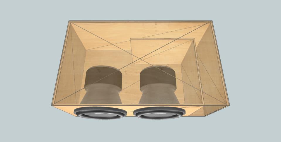 12 inch subwoofer box Sundown Audio Xv3 (Smurf)